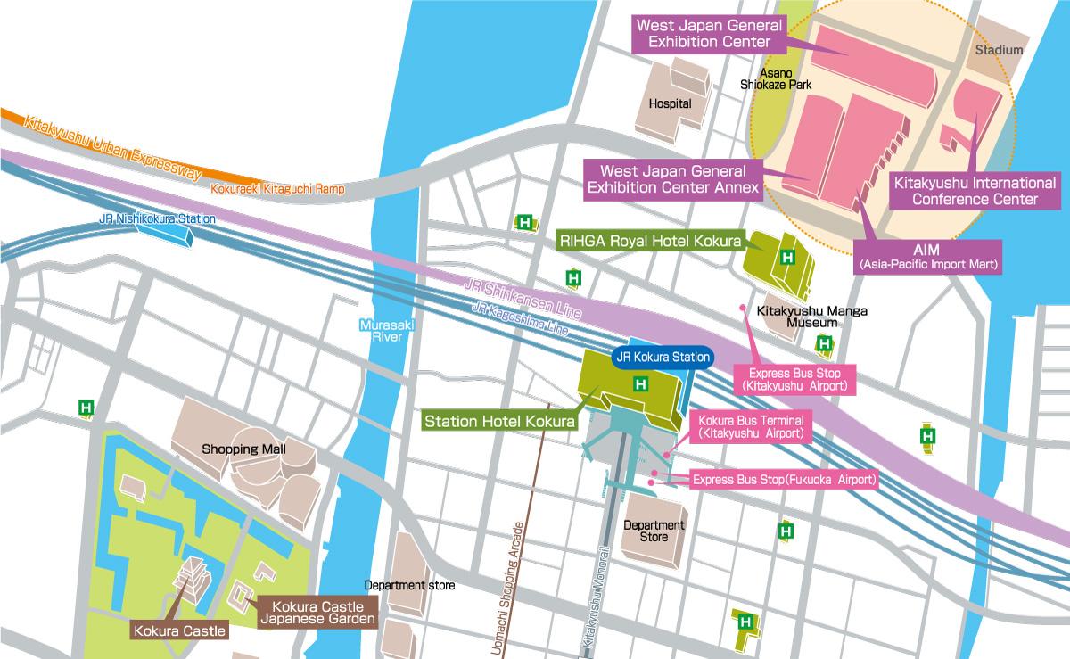Kitakyushu International Convention Zone and Downtown Area